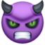 angry face with horns Emoji on Facebook