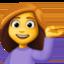 woman tipping hand Emoji on Facebook