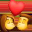 kiss Emoji on Facebook