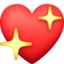 sparkling heart Emoji on Facebook
