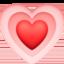 growing heart Emoji on Facebook