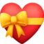 heart with ribbon Emoji on Facebook