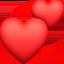 beating heart Emoji on Facebook