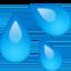 sweat droplets Emoji on Facebook