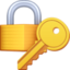 Emoji de cerrado con llave en Facebook