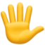hand with fingers splayed Emoji on Facebook