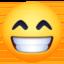 beaming face with smiling eyes Emoji on Facebook