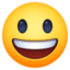 grinning face with big eyes Emoji on Facebook