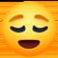 relieved face Emoji on Facebook