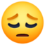 pensive face Emoji on Facebook