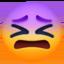 confounded face Emoji on Facebook