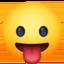 Emoji de cara sacando la lengua en Facebook