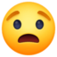 worried face Emoji on Facebook