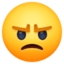 angry face Emoji on Facebook