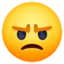 face with steam from nose Emoji on Facebook