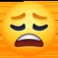 weary face Emoji on Facebook