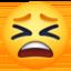 tired face Emoji on Facebook
