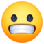 grimacing face Emoji on Facebook