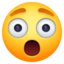 astonished face Emoji on Facebook