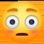 flushed face Emoji on Facebook