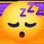sleeping face Emoji on Facebook