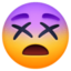 dizzy face Emoji on Facebook