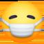 face with medical mask Emoji on Facebook