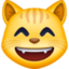 grinning cat with smiling eyes Emoji on Facebook