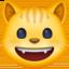 grinning cat Emoji on Facebook