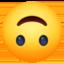 Emoji de cara boca abajo en Facebook