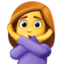 woman gesturing NO Emoji on Facebook