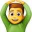 man gesturing OK Emoji on Facebook