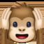 hear-no-evil monkey Emoji on Facebook
