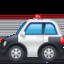 police car Emoji on Facebook