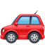 automobile Emoji on Facebook
