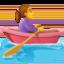 woman rowing boat Emoji on Facebook