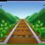 railway track Emoji on Facebook
