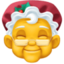 Mrs. Claus Emoji on Facebook