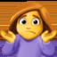 woman shrugging Emoji on Facebook