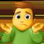 man shrugging Emoji on Facebook