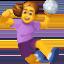 woman playing handball Emoji on Facebook