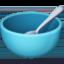 bowl with spoon Emoji on Facebook