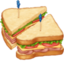 面包上的Facebook表情符号
