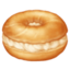 bagel Emoji on Facebook