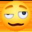 woozy face Emoji on Facebook