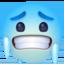 hot face Emoji on Facebook
