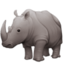 rhinoceros Emoji on Facebook