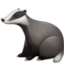 badger Emoji on Facebook