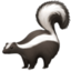skunk Emoji on Facebook