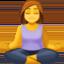 woman in lotus position Emoji on Facebook